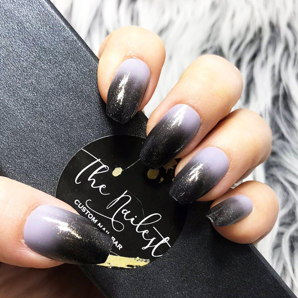 SOFORT LIEFERBAR 50 grau Grau schwarz Ombre Abstufung