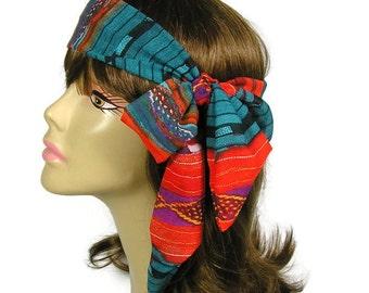 Southwestern Scarves Southwestern Hairscarves Southwestern Headscarf Western Hair Scarves Western Hairscarves Western Headscarves Neck Scarf