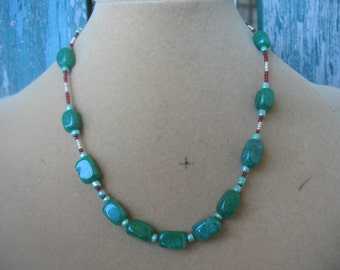 Dark Jade Choker Necklace