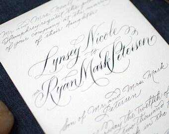 Hand-Made Wedding Invites