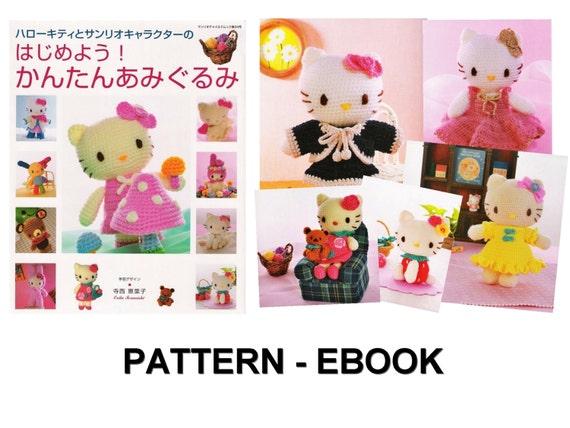 PDF Häkelanleitung japanische eBook Hello Kitty sofortiger