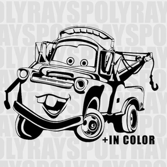 Mater Svg Cars 3 Svg Car Instant Download Disney Cars