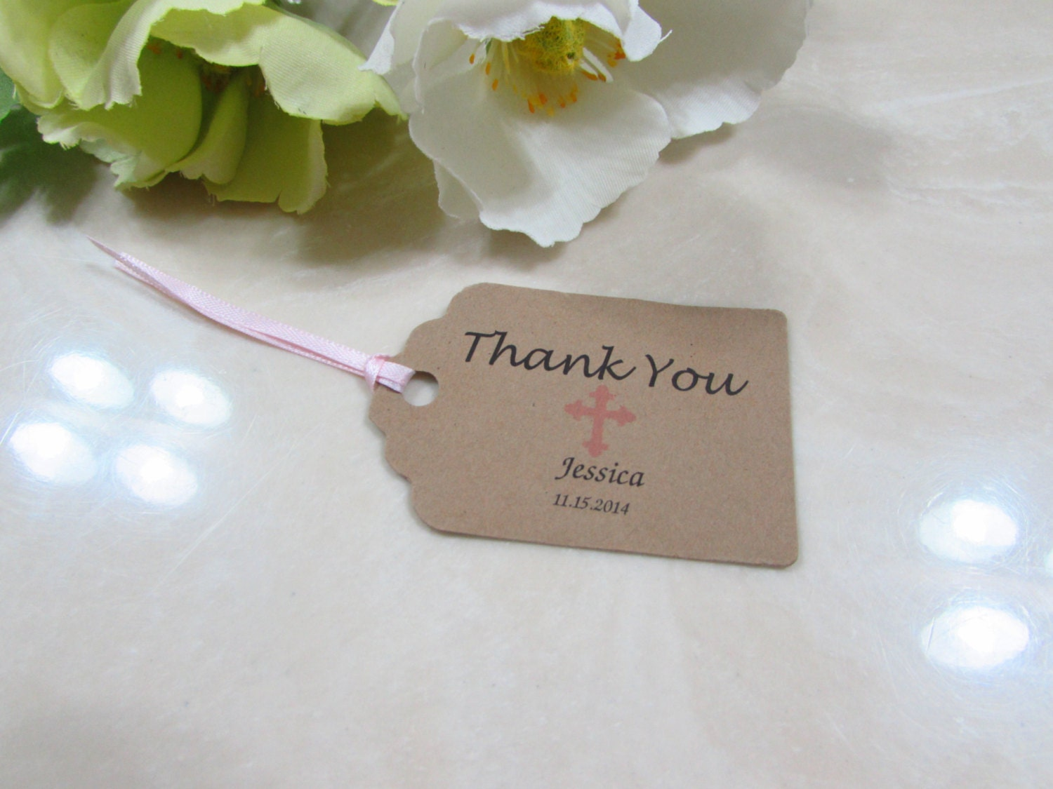 Personalized Favor Tags 2 1/2\'\' baptism tags Thank