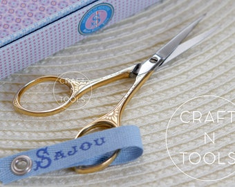Embroidery Scissors Maison Sajou Gilded Sun Model 025/Small Scissors/Sajou Shears/Embroidery Shears/Chenille/Beading/Knitters