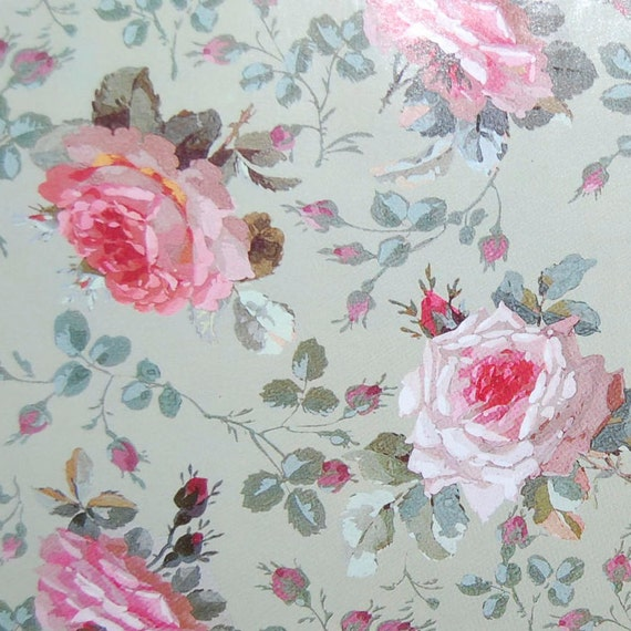 English chintz vintage paper pink roses decoupage paper wrapping english chintz vintage paper pink roses decoupage paper wrapping paper rose paper paper flowers floral paper 85 x 11 inches from craftpapersource on mightylinksfo