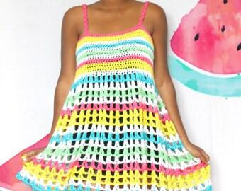 The Island Stripes Crochet Dress Pattern. Instant Download!