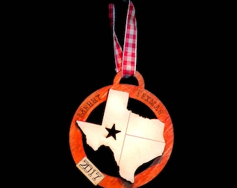Texas light flag with star 2018 Gift Tag / Ornament (updated image to follow!)