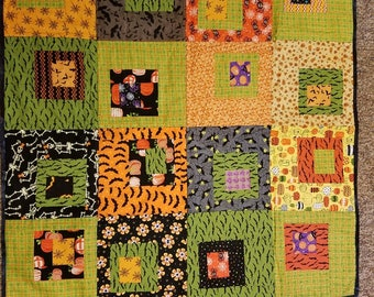 Halloween Quilt, Wall hanging or table cloth