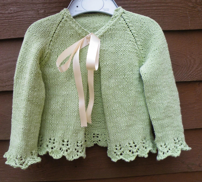 Pevensey Little Girls Cardigan Knitting Pattern PDF