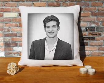 Daniel Sharman Pillow Cushion - 16x16in - White
