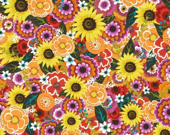 Florianna - Multi Packed Floral from P & B Textiles