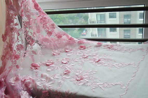 breite 5314 zoll hochzeit spitze stoff rosa spitzen blumen. Black Bedroom Furniture Sets. Home Design Ideas