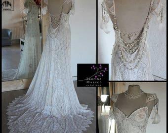 Vintage, Laurine Masset EVE wedding dress lace