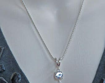 Strontium Titanate - Strontium Titanate Tassel Necklace - Strontium Tritanate & Sterling Silver Tassel Necklace