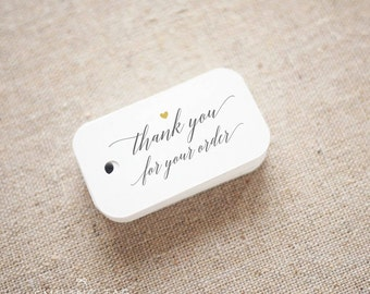 Thank you for Your Order Etsy Shop Product Tags Personalized Gift Tags - Etsy Shop Hang Tags- Etsy Shop Labels - Set of 30 (Item code: J674)