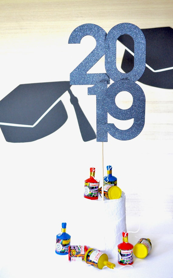 2018 | 2019 I 2020 Graduation Cake Topper or Centerpiece. Available in gold, silver, black, and other glitter colors!