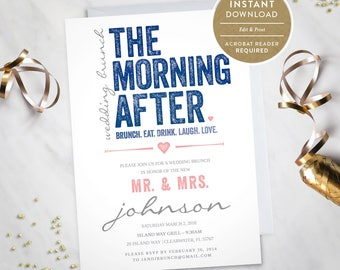 The Morning After – Wedding Brunch Invitation (Instant Download) #100