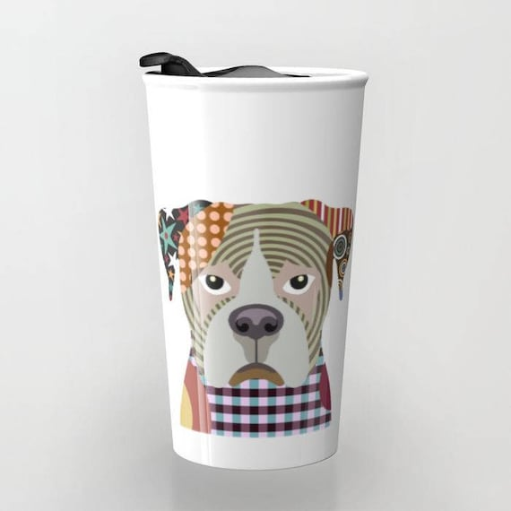Boxer Coffee Mug, Cute Dog Travel Mug, Boxer Dog Gift,  Pet Mug, Dog Lover Mug, Dog Lover Gift, Travel Gift
