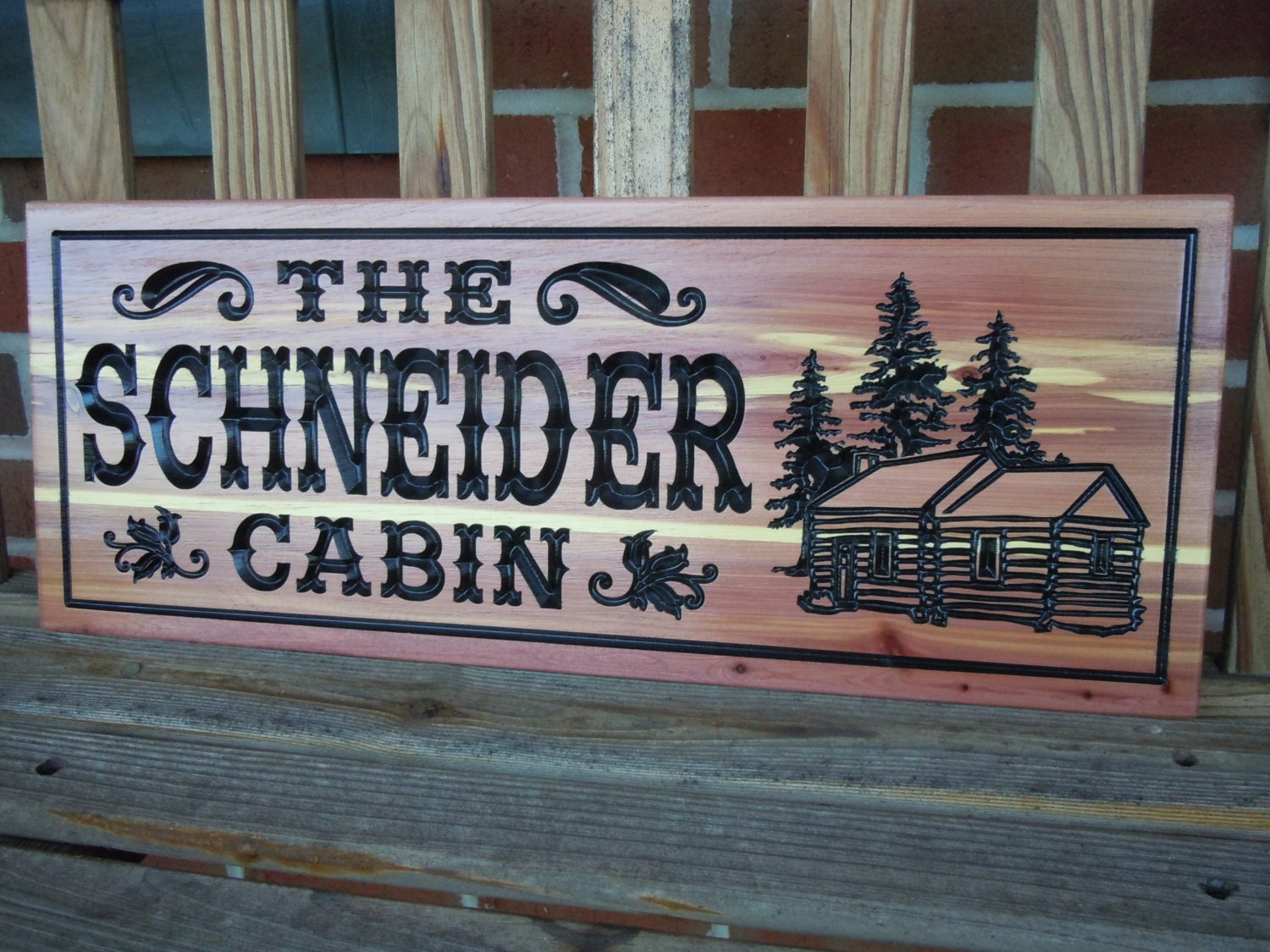 Custom Outdoor Name Signs Family Cabin Sign Outdoor