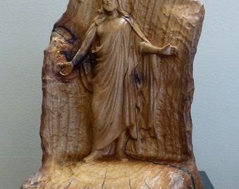 Christus Jesus Statue Wood Carving Sculpture