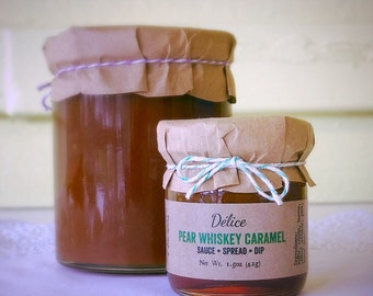 Pear Whiskey Caramel Sauce - minis