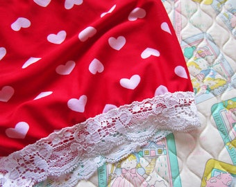 Red heart hot pants, fairy kei roller derby 80s party LGBT drag queen valentine's day size medium M