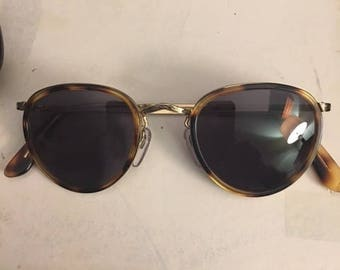 Vintage Bosche and Lomb Lennon tortoise shell sunglasses gold plated..FREE shipping!!!
