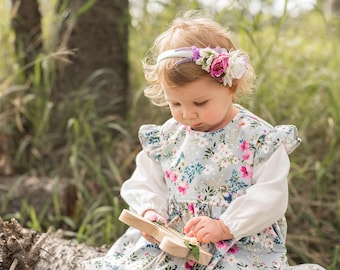 Evelyn Flutter Sleeve Dress, Baby clothes, Girl clothes, Girls Dress, Handmade baby clothes, first birthday outfit, baby girl dress, dresses