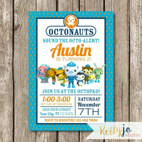 Octonauts Birthday Party Invitation Octonauts Party