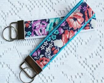 Floral Key Fob Wristlet