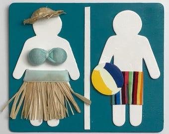 beachgoers toilet sign