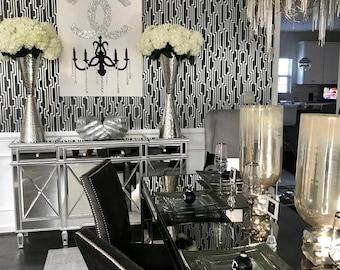 Chanel Chandelier Glam (30x40) Fashion Art, Chanel Inspired, Pop Art, Chanel Painting, Chandelier Painting, Home Decor