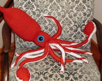 Main en tricot Giant Squid-CUSTOM ORDER-Choisissez vos propres couleurs