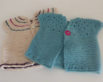 Knitting Pattern Top Down Cardigan Sweater - Fantine  (6 Sizes for 0 -7 yrs) Very easy in worsted/Aran yarn