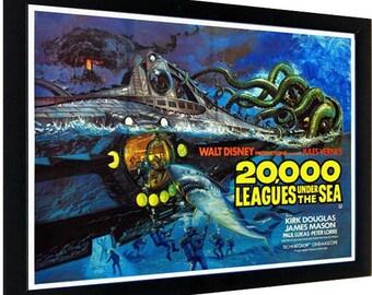 20000 Leagues Under the Sea Framed Movie Poster James Mason Kirk Douglas Peter Lorre Paul Lukas
