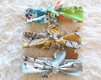 OUTLET! SIZE 6-12 MONTHS, organic cotton jersey knotted ties, 6 euro instead of 10!
