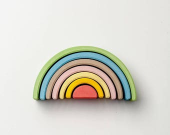 Stacking toy | Rainbow toy | Rainbow stacking toy| Wooden rainbow | Montessori | Waldorf toy | Educational toys | Nursery decor |Wooden toys