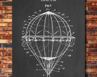 Balloon Patent Print Art 1925