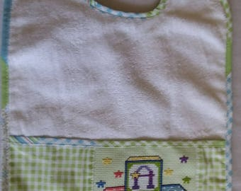 ABC Blocks Counted Cross Stitch Bib