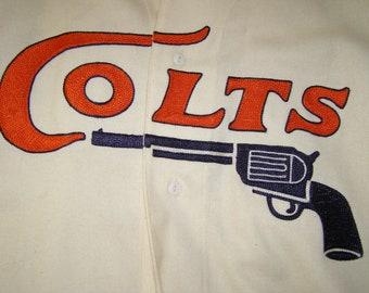 Vintage Houston Colts M & N Wool Jersey XL