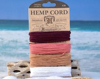 Hemp Cord 1mm, Coral Reef,  Hmep Twine, Hemp String -CH67