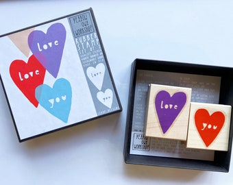 SALE! Love You Hearts Rubber Stamp Kit