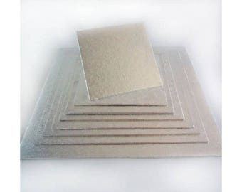 """Tray Presentation square end 33 x 33 cm 13 """"for cakes bakery"""
