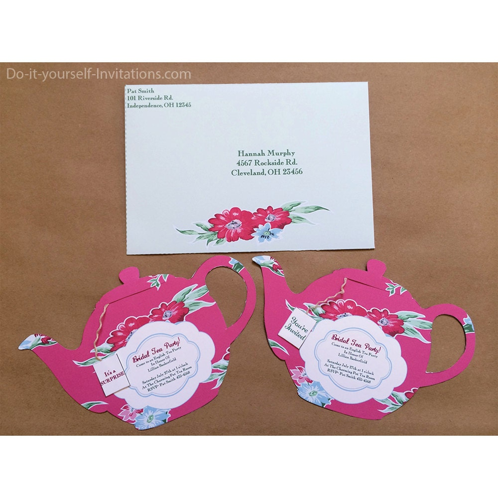 tea party invitations free download