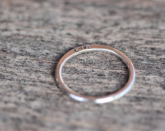 Dainty Personalized Sterling Silver  Ring K005