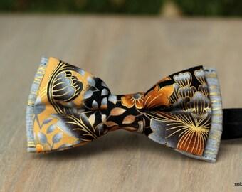 Bow 81. Yinglong. Pajarita hecha a mano con tela de algodón de gran calidad.
