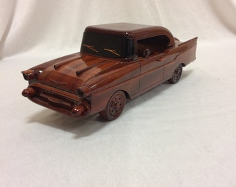 Chevy Bel-Aire Wooden Model - Made of Mahogany Wood