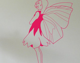 FAIRY WALL STICKER (Small), Removable Decal, Made in Australia