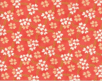 Ella and Ollie Strawberry Daisy Rings  by New Fig Tree Collection/Moda Fabrics, 20302 11, Sold By 1/2 Yard