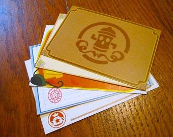 Animal Crossing Stationery Notecards - NPC Set Number 2, 10 cards per set